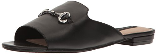 STEVEN-by-Steve-Madden-Womens-Fela-Flat-Sandal-Black-Leather-85-M-US-0