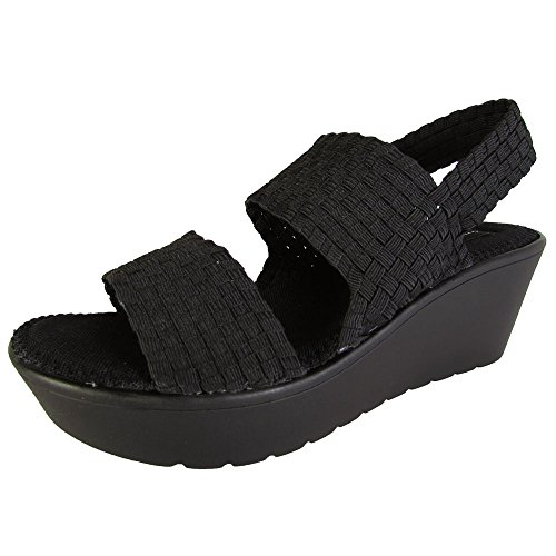 Steven-By-Steve-Madden-Womens-Becki-Woven-Platform-Sandal-Shoes-Black-US-8-0