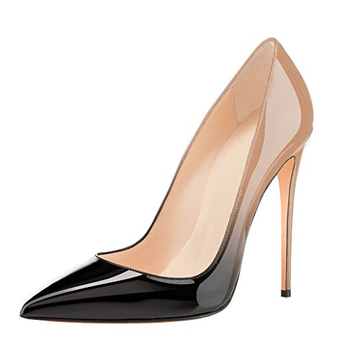 Women-Pointy-Toe-Pumps-High-Heels-Stilettos-Patent-Leather-Slip-On-Dress-Shoes-0