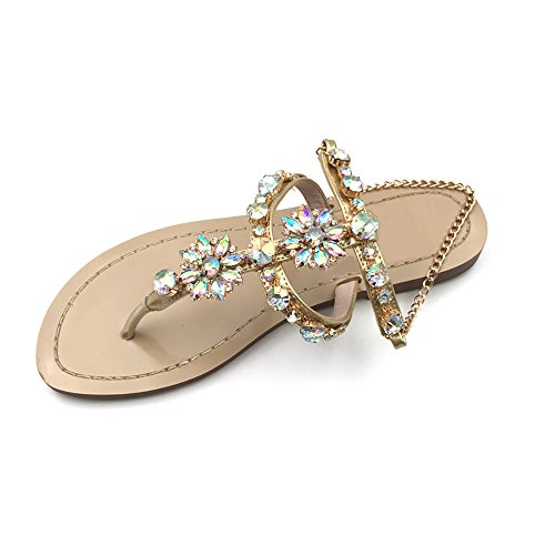 2017-Women-Rhinestones-Chains-Flat-Sandals-Plus-Size-1625-US-12-EU-44-CN-46-Apricot-0
