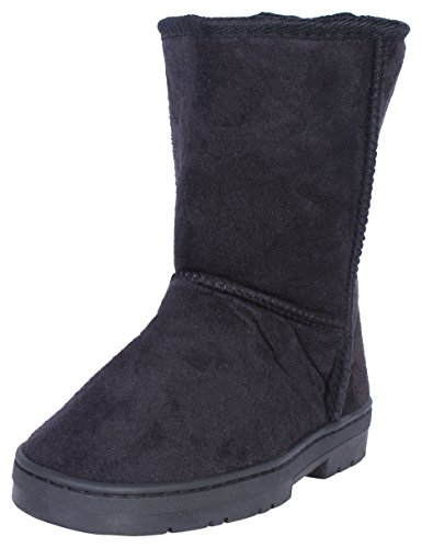 Bebe-Girls-Winter-Boots-with-Side-Bebe-Logo-BlackSilver-Size-4-0-0