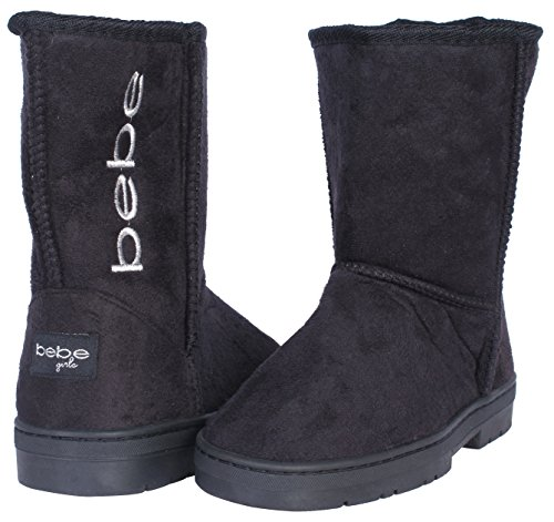 Bebe-Girls-Winter-Boots-with-Side-Bebe-Logo-BlackSilver-Size-4-0-3