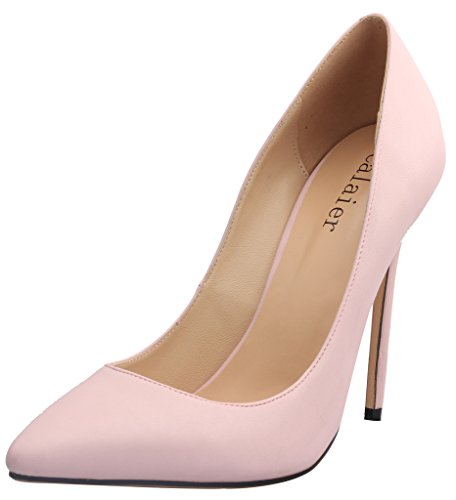 Calaier-Womens-15-Colors-US-Size-4-15-Stiletto-12CM-High-Heel-Dress-Party-Wedding-Office-Pumps-Shoes-Pink-PU-15-BM-US-0