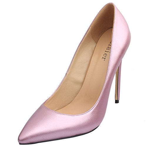 Calaier-Womens-15-Colors-US-Size-4-15-Stiletto-12CM-High-Heel-Dress-Party-Wedding-Office-Pumps-Shoes-Purple-B-8-BM-US-0