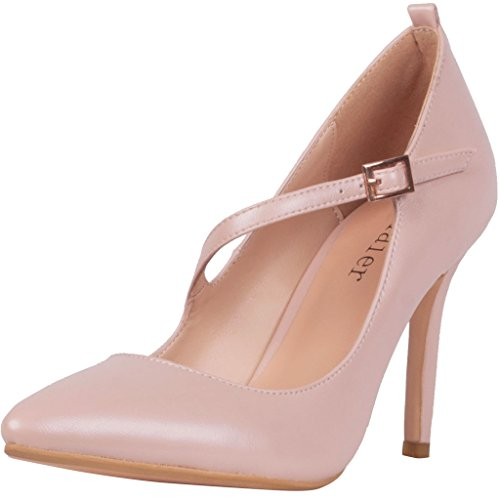 Calaier-Womens-Caalso-Sexy-Ladies-Designer-Evening-Luxury-Wedding-Parties-High-Heel-Stiletto-Strappy-Shoes-Pointed-Toe-85CM-Stiletto-Buckle-Pumps-Pink-85-BM-US-0