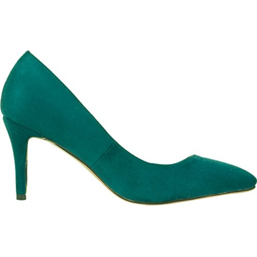 Calaier-Womens-Cadrum-Luxury-Sexy-Fashion-Wedding-Dress-Evening-Modern-High-Pointed-Toe-7CM-Stiletto-Slip-on-Pumps-Green-95-BM-US-0-2