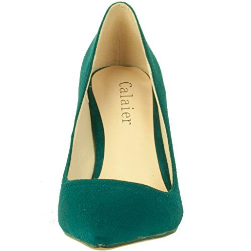 Calaier-Womens-Cadrum-Luxury-Sexy-Fashion-Wedding-Dress-Evening-Modern-High-Pointed-Toe-7CM-Stiletto-Slip-on-Pumps-Green-95-BM-US-0-3
