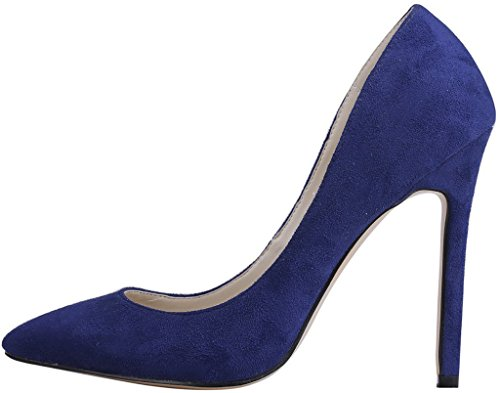 Calaier-Womens-Caeverybody-Pointed-Toe-10CM-Stiletto-Slip-on-Pumps-Shoes-Blue-5-BM-US-0-0