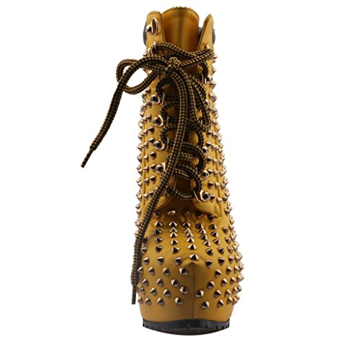 Calaier-Womens-Caexperience-Pointed-Toe-16CM-Stiletto-Lace-up-Boots-Shoes-Brown-65-BM-US-0-3