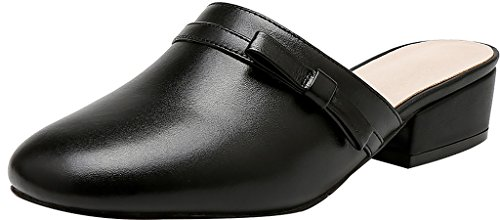 Calaier-Womens-Cafantastic-Closed-Toe-4CM-Block-Heel-Slip-on-Mule-Shoes-Black-6-BM-US-0