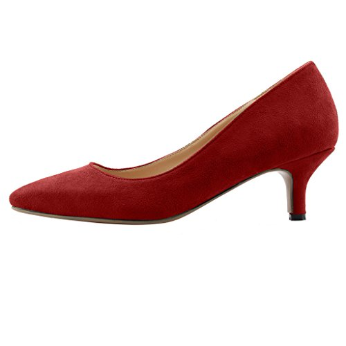 Calaier-Womens-Cahalfway-Pointed-Toe-55CM-Stiletto-Slip-on-Pumps-Shoes-Red-13-BM-US-0-0