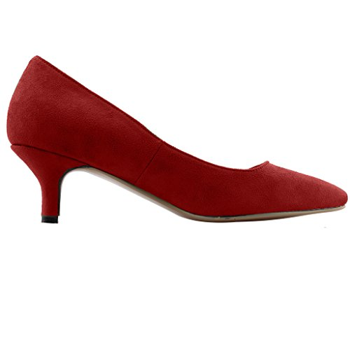 Calaier-Womens-Cahalfway-Pointed-Toe-55CM-Stiletto-Slip-on-Pumps-Shoes-Red-13-BM-US-0-2