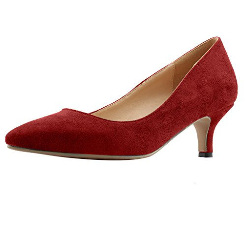 Calaier-Womens-Cahalfway-Pointed-Toe-55CM-Stiletto-Slip-on-Pumps-Shoes-Red-13-BM-US-0