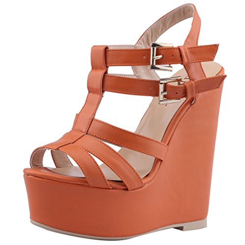 Calaier-Womens-Caof-Open-Toe-155CM-0-Buckle-Sandals-Shoes-Orange-7-BM-US-0