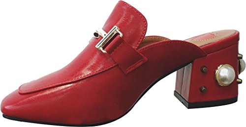 Calaier-Womens-Capercent-Closed-Toe-55CM-Block-Heel-Slip-on-Mule-Shoes-Red-8-BM-US-0
