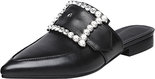 Calaier-Womens-Caquietly-Closed-Toe-2CM-Block-Heel-Slip-on-Mule-Shoes-Black-65-BM-US-0