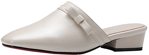 Calaier-Womens-Cashare-Closed-Toe-35CM-Block-Heel-Slip-on-Mule-Shoes-White-7-BM-US-0
