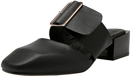 Calaier-Womens-Caswing-Closed-Toe-45CM-Block-Heel-Slip-on-Mule-Shoes-Black-8-BM-US-0