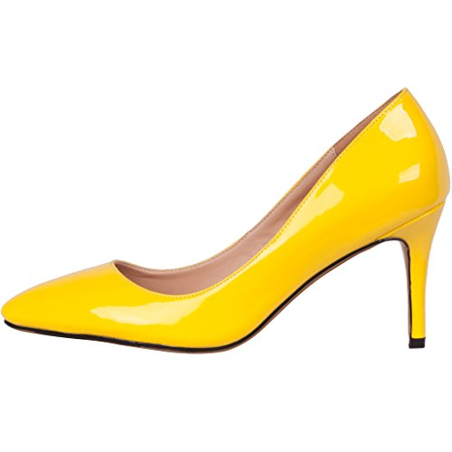 Calaier-Womens-Catalk-Ladies-Luxury-Designer-Wedding-Bridal-Evening-High-Heel-Pointed-Toe-7CM-Stiletto-Slip-on-Pumps-Yellow-11-BM-US-0-0