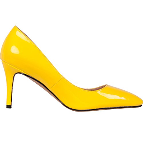 Calaier-Womens-Catalk-Ladies-Luxury-Designer-Wedding-Bridal-Evening-High-Heel-Pointed-Toe-7CM-Stiletto-Slip-on-Pumps-Yellow-11-BM-US-0-2