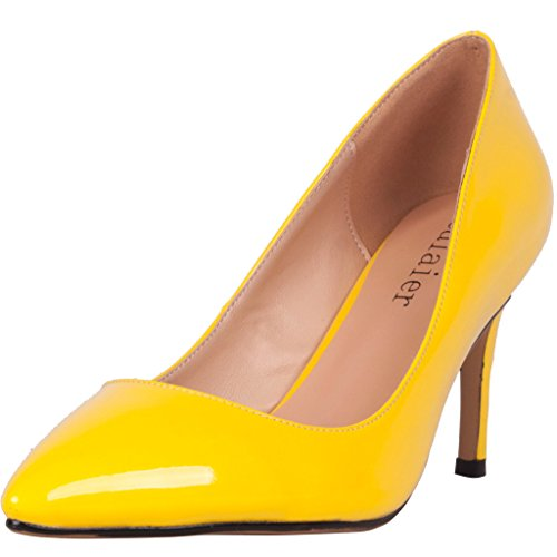 Calaier-Womens-Catalk-Ladies-Luxury-Designer-Wedding-Bridal-Evening-High-Heel-Pointed-Toe-7CM-Stiletto-Slip-on-Pumps-Yellow-11-BM-US-0