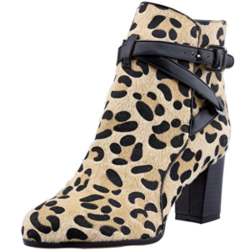 Calaier-Womens-Catop-Round-Toe-6CM-Block-Heel-Buckle-Boots-Shoes-Multicoloured-13-BM-US-0