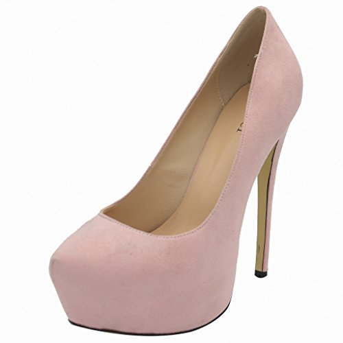 Calaier-Womens-Chaitle-Pointed-Toe-15CM-Stiletto-Slip-on-Pumps-Shoes-Pink-75-BM-US-0