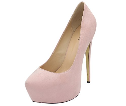 Calaier-Womens-Chaitle-Pointed-Toe-15CM-Stiletto-Slip-on-Pumps-Shoes-Pink-8-BM-US-0