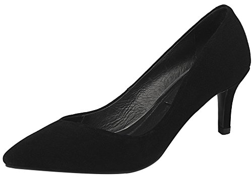 Calaier-Womens-Jtaap-Pointed-Toe-55CM-Kitten-Heel-Slip-on-Pumps-Shoes-Black-4-BM-US-0