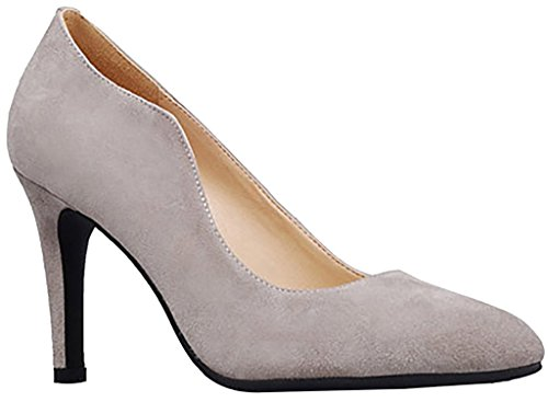 Calaier-Womens-Jtaas-Pointed-Toe-8CM-Stiletto-Slip-on-Pumps-Shoes-Grey-7-BM-US-0