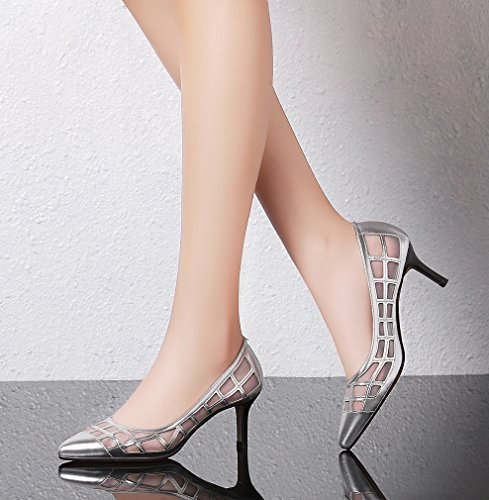 Calaier-Womens-Jtabi-Pointed-Toe-6CM-Stiletto-Slip-on-Pumps-Shoes-silver-9-BM-US-0-4
