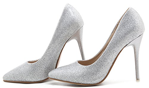 Calaier-Womens-Jtabt-Pointed-Toe-10CM-Stiletto-Slip-on-Pumps-Shoes-silver-15-BM-US-0-0