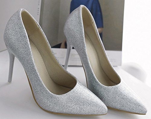 Calaier-Womens-Jtabt-Pointed-Toe-10CM-Stiletto-Slip-on-Pumps-Shoes-silver-15-BM-US-0-1