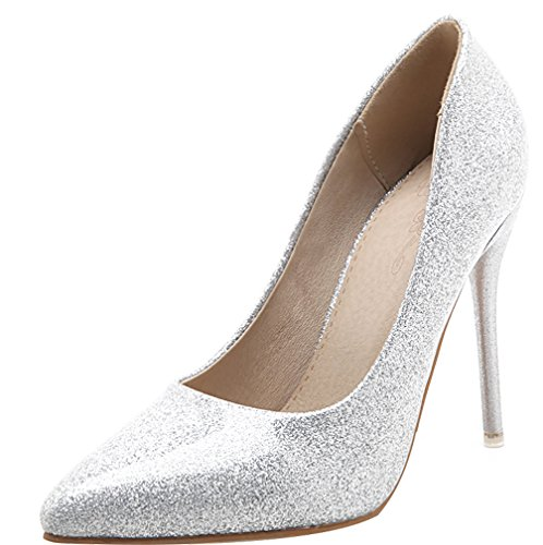 Calaier-Womens-Jtabt-Pointed-Toe-10CM-Stiletto-Slip-on-Pumps-Shoes-silver-15-BM-US-0