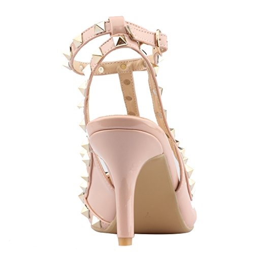 Calaier-Womens-Patent-Leather-PointedToe-85CM-Stiletto-Buckle-Sandals-Shoes-Pink-13-BM-US-0-1