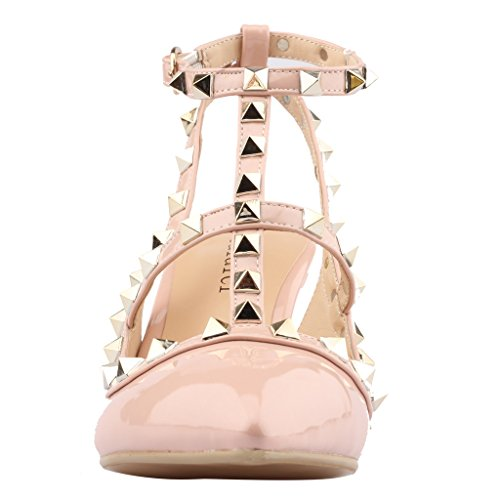 Calaier-Womens-Patent-Leather-PointedToe-85CM-Stiletto-Buckle-Sandals-Shoes-Pink-13-BM-US-0-3