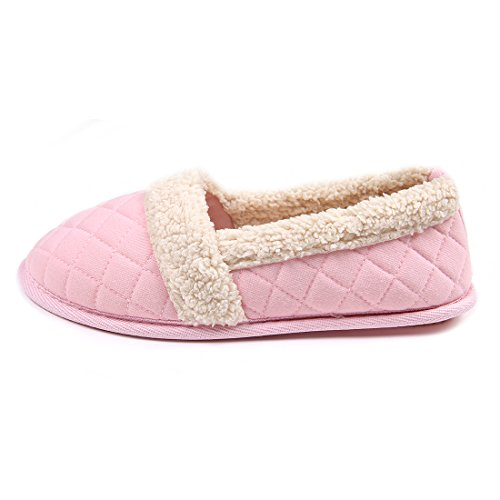 ChicNChic-Women-Cozy-Cotton-Plush-Soft-Sole-Indoor-Slippers-Anti-slip-House-Shoes-Pink-7-8-BMUS-0-0