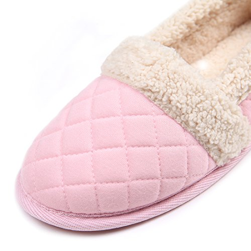 ChicNChic-Women-Cozy-Cotton-Plush-Soft-Sole-Indoor-Slippers-Anti-slip-House-Shoes-Pink-7-8-BMUS-0-2