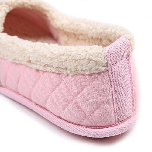 ChicNChic-Women-Cozy-Cotton-Plush-Soft-Sole-Indoor-Slippers-Anti-slip-House-Shoes-Pink-7-8-BMUS-0-3
