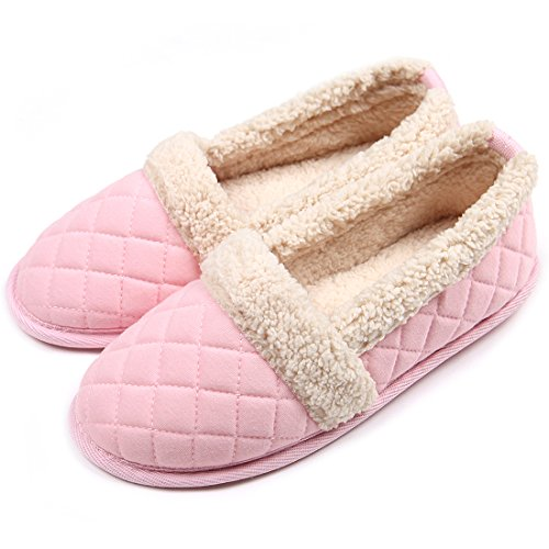ChicNChic-Women-Cozy-Cotton-Plush-Soft-Sole-Indoor-Slippers-Anti-slip-House-Shoes-Pink-7-8-BMUS-0