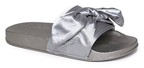 Cute-Easy-Slip-On-Sandal-Trendy-Low-Open-Toe-Knotted-Flat-Soft-Fuzzy-Slide-Satin-Ribbon-Tie-Comfort-Shoe-Monzi-BowFur-by-J-Adams-0