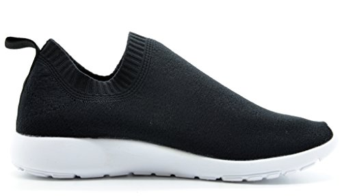 DREAM-PAIRS-160486-W-New-Fashion-Womens-Lady-Gowalk-Slip-on-Light-Weight-Recreational-Comfort-Running-Shoes-Sneakers-BLACK-WHITE-SIZE-12-0-1