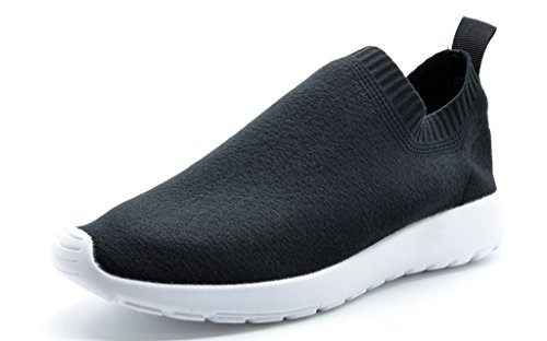 DREAM-PAIRS-160486-W-New-Fashion-Womens-Lady-Gowalk-Slip-on-Light-Weight-Recreational-Comfort-Running-Shoes-Sneakers-BLACK-WHITE-SIZE-12-0