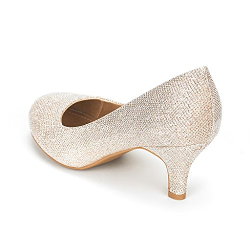 DREAM PAIRS LUVLY Womens Bridal Wedding Party Low