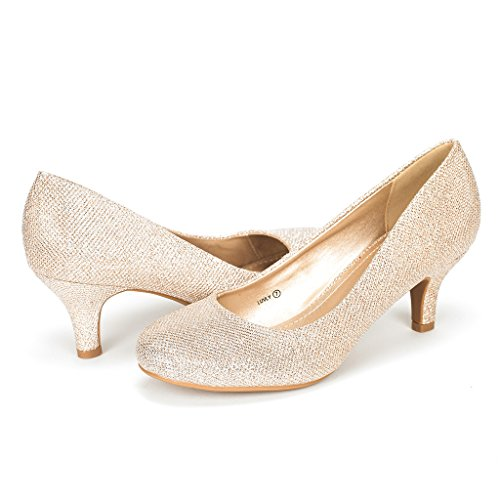 DREAM-PAIRS-LUVLY-Womens-Bridal-Wedding-Party-Low-Heel-Pump-Shoes-Gold-Size-12-0