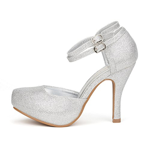 DREAM-PAIRS-OFFICE-02-Womens-Classy-Mary-Jane-Double-Ankle-Strap-Almond-Toe-High-Heel-Pumps-New-SILVER-SIZE-12-0-0