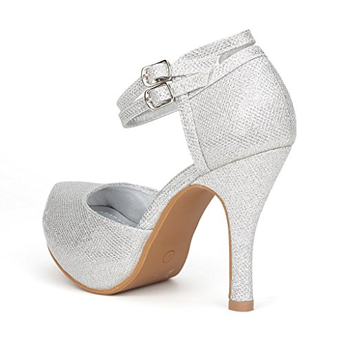 DREAM-PAIRS-OFFICE-02-Womens-Classy-Mary-Jane-Double-Ankle-Strap-Almond-Toe-High-Heel-Pumps-New-SILVER-SIZE-12-0-2