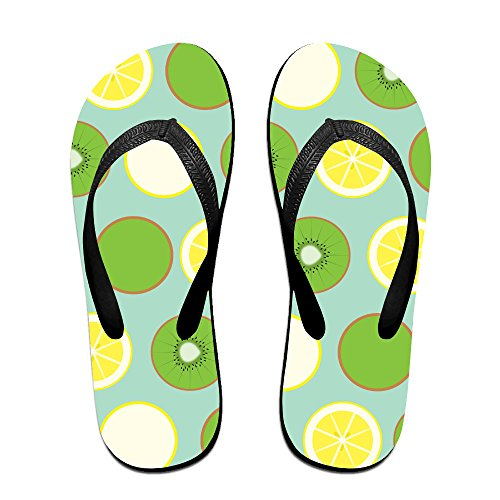 Double-Happiness-Summer-Unisex-Lemon-Kiwifruit-Classical-Comfortable-Flat-Pool-Sandal-0