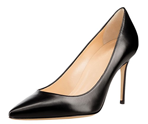 Guoar-85CM-High-Heel-Pointed-Toe-Stiletto-Pumps-Women-Black-Shoes-us95-0