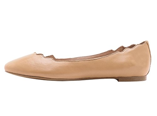 Guoar-Womens-Ballet-Flats-Big-Size-PU-Sandals-Ladies-Shoes-Solid-Round-Toe-Scalloped-Edge-Pumps-Shoes-Nude-US-12-0
